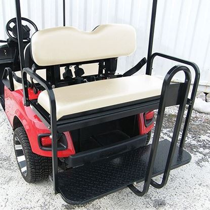 Picture of Rhino 700 Series Super Saver E-Z-Go TXT 1996+ Oyster Cushions Steel Rear Flip Seat Kit