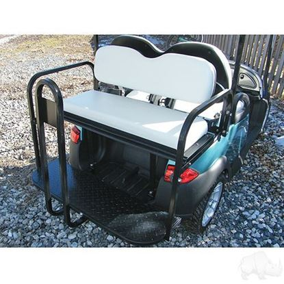 Picture of Club Car Precedent White Cushions Steel Rear Flip Seat Kit