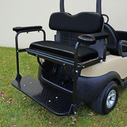 Picture of Seat Kit, Rear Flip, Steel, Black Cushions, Rhino 300 Series fits Club Car Precedent