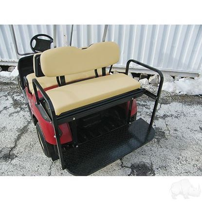 Picture of Yamaha G14/G16/G19/G22/GMAX Tan Cushions Steel Rear Flip Seat Kit