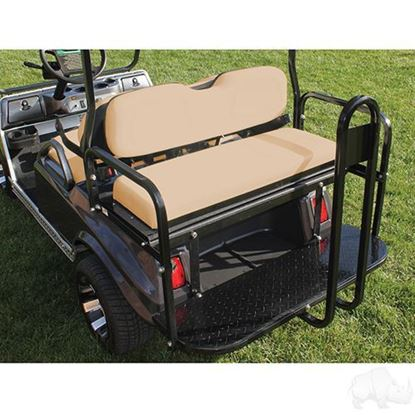Picture of Seat Kit, Rear Flip, Aluminum, Tan Cushions, Rhino 400 Series fits Club Car DS