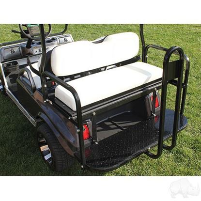 Picture of Seat Kit, Rear Flip, Aluminum, White Cushions, Rhino 400 Series fits Club Car DS