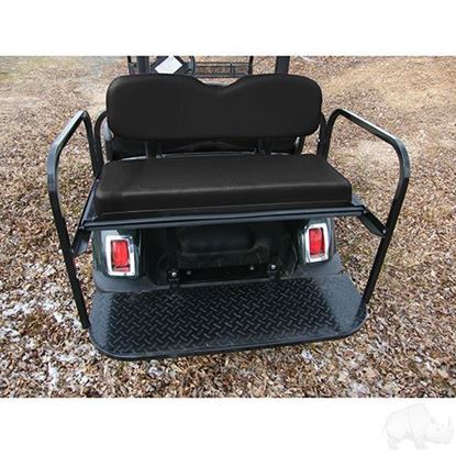 Picture of Yamaha G29/Drive Black Cushions Aluminum Rear Flip Seat Kit