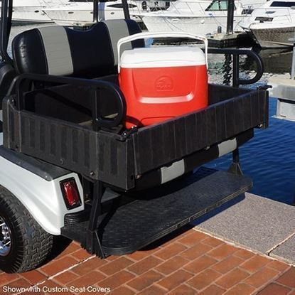 Picture of Seat Kit, Cargo Box, Rear Flip, Aluminum, White Cushions, Rhino 900 Series fits Club Car DS
