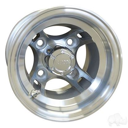 Picture of Wheel, RHOX Brickyard 8x7 4-Spoke Machined