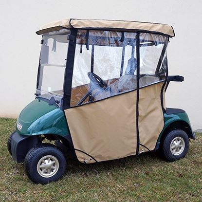 Picture of Beige Odyssey Over-the-top 3-Sided Enclosure for E-Z-Go RXV