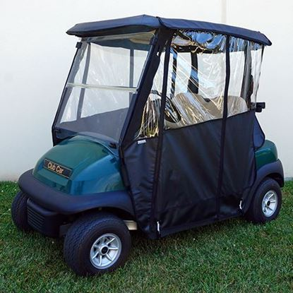 Picture of Black Odyssey Over-the-top 3-Sided Enclosure for Club Car Precedent