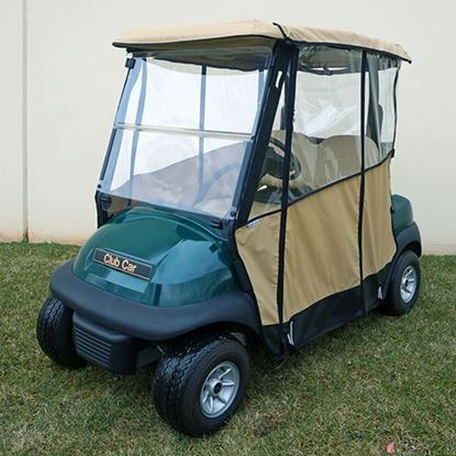 Picture of Beige Odyssey Over-the-top 3-Sided Enclosure for Club Car Precedent