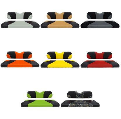 Picture of Seat Cover Sets, Front, Sport Cushions - Choose Your Colors for Club Car DS 2000-Newer