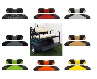 Picture of Rhino 300 Series Club Car Precedent Steel Rear Flip Seat Kit - Choose Your Seat Colors