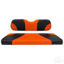 Picture of E-Z-Go RXV Sport Black/Orange Cushions Steel Rear Flip Seat Kit