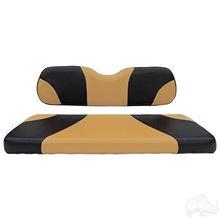 Picture of E-Z-Go RXV Sport Black/Tan Cushions Steel Rear Flip Seat Kit
