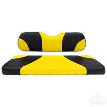 Picture of E-Z-Go RXV Sport Black/Yellow Cushions Steel Rear Flip Seat Kit