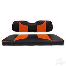 Picture of E-Z-Go RXV Rally Black/Orange Cushions Steel Rear Flip Seat Kit