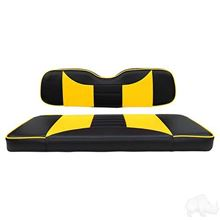 Picture of E-Z-Go RXV Rally Black/Yellow Cushions Steel Rear Flip Seat Kit