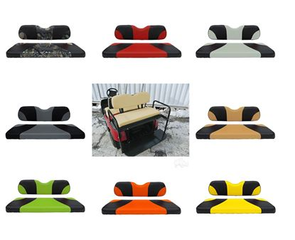 Picture of Rhino 400 Series E-Z-Go TXT 1996+ Steel Rear Flip Seat Kit - Choose Your Seat Colors