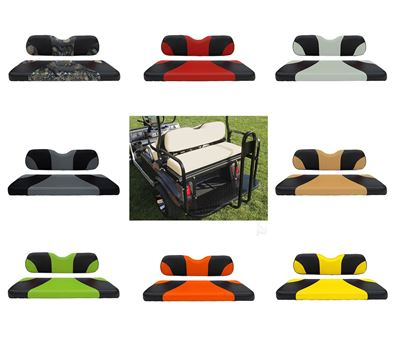 Picture of Rhino 400 Series Club Car DS Steel Rear Flip Seat Kit - Choose Your Seat Colors