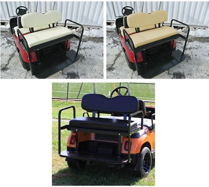 Picture of Rhino 400 Series Yamaha G14/G16/G19/G22/GMAX Aluminum Rear Flip Seat Kit - OEM Colors Available