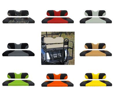 Picture of Rhino 400 Series E-Z-Go RXV Aluminum Rear Flip Seat Kit - Choose Your Seat Colors