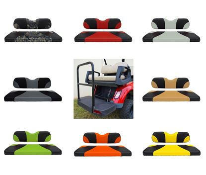 Picture of Rhino 500 Series E-Z-Go RXV Aluminum Rear Flip Seat Kit - Choose Your Seat Colors