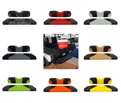 Picture of Rhino 900 Series Club Car DS Aluminum Rear Flip Seat Kit - Choose Your Seat Colors
