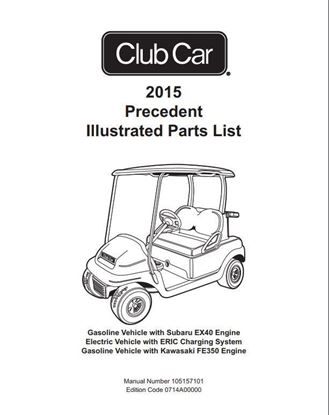 Picture of Parts Manual, Club Car Precedent 2015 Gas & Electric