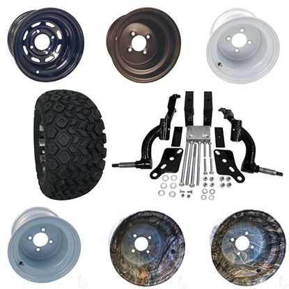 """Picture of Club Car DS 2003.5-2009 6"""" Spindle Lift Kit, 22x11-10 All Terrain Tires, and Steel Wheels - Choose Your Wheel"""