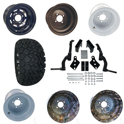 """Picture of Club Car DS Gas 94-03.5 & Electric 84-03.5 6"""" Spindle Lift Kit, 22x11-10 All Terrain Tires, and Steel Wheels - Choose Your Wheel"""