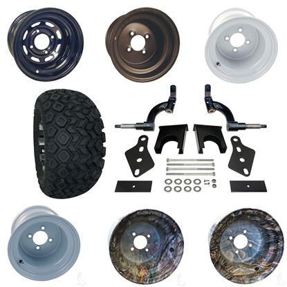 """Picture of Club Car Precedent 6"""" Spindle Lift Kit, 22x11-10 All Terrain Tires, and Steel Wheels - Choose Your Wheel"""