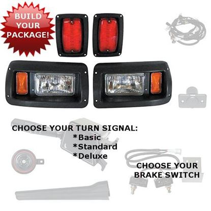 Picture of Club Car DS 1993-Up Adjustable Halogen Light Kits - Choose Your Street Legal Kit