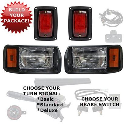 Picture of Club Car DS 1993-Up Factory Style Halogen Light Kits - Choose Your Street Legal Kit
