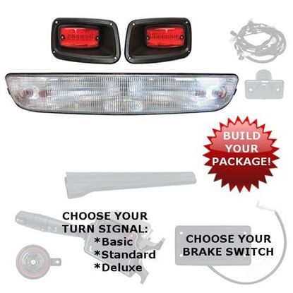 Picture of E-Z-Go Medalist/TXT 1994.5-2013 Halogen Light Bar Kits - Choose Your Street Legal Kit