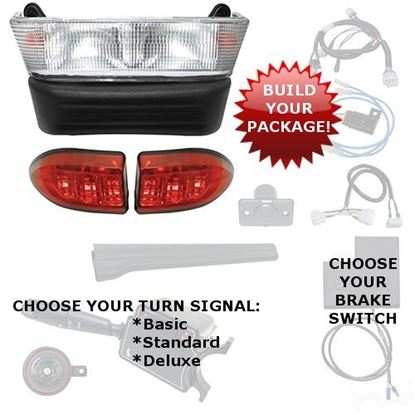 Picture of Club Car Precedent Gas 2004-Present Halogen Light Bar Kits - Choose Your Street Legal Kit