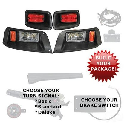 Picture of E-Z-Go TXT 1996-2013 Halogen Adjustable Light Kits - Choose Your Street Legal Kit