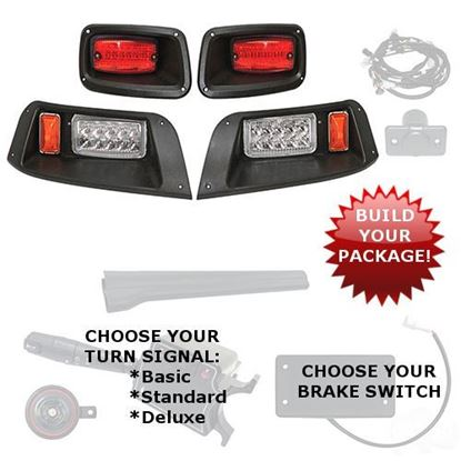 Picture of E-Z-Go TXT 1996-2013 LED Adjustable Light Kits - Choose Your Street Legal Kit