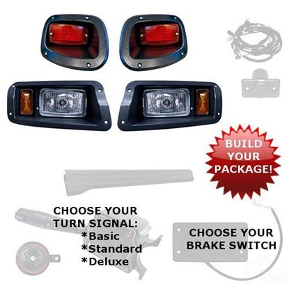 Picture of E-Z-Go TXT 2014-Up Halogen Adjustable Light Kits - Choose Your Street Legal Kit