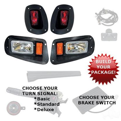 Picture of E-Z-Go RXV 2008-2015 Halogen Adjustable Light Kits - Choose Your Street Legal Kit