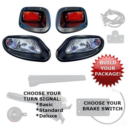 Picture of E-Z-Go TXT 2014-Up Halogen Factory-Style Light Kits - Choose Your Street Legal Kit