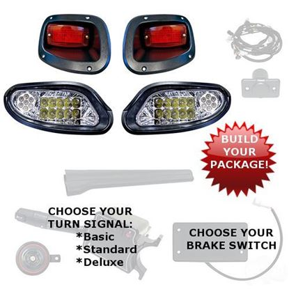 Picture of E-Z-Go TXT 2014-Up LED Factory-Style Light Kits - Choose Your Street Legal Kit