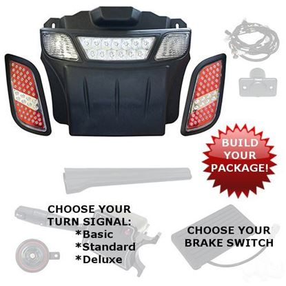 Picture of E-Z-Go RXV 2008-2015 LED Light Bar Bumper Kits - Choose Your Street Legal Kit