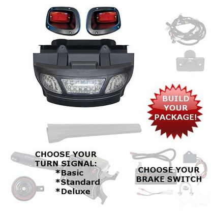 Picture of E-Z-Go TXT 2014-Up LED Light Bar Bumper Kits - Choose Your Street Legal Kit