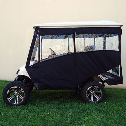 "Picture of Black Odyssey 3-Sided Enclosure for E-Z-Go TXT 2014+ with RHOX 88"" Top"