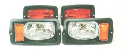Picture of Halogen Light Kit with Black Bezels for Club Car DS 1982-1992 Old Style Body