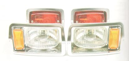 Picture of Halogen Light Kit with Chrome Bezels for Club Car DS 1982-1992 Old Style Body
