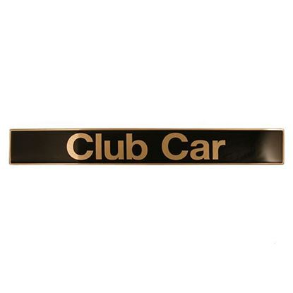 Picture of Name Plate, Black/Gold, Club Car Precedent 2004-Up, OEM 102502601
