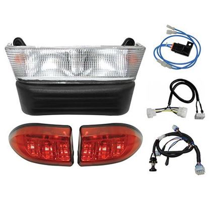 Picture of Club Car Precedent Gas 2004-Up Halogen Light Bar Kit with Plug & Play Harness