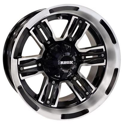 Picture of Wheel, RHOX RX285 Machined and Matte Black with Matte Black Inserts 14x7