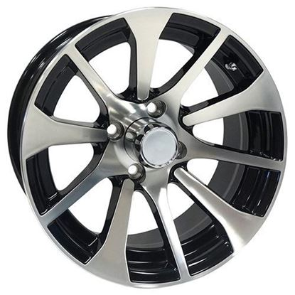 Picture of Wheel, RHOX AC604 Machined with Black 14x6