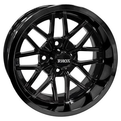 Picture of Wheel, RHOX RX281 Gloss Black 14x7