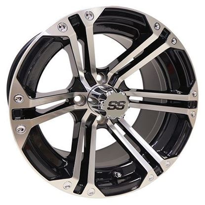 Picture of Wheel, RHOX RX350 Machined with Gloss Black 14x7
